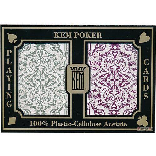 Karty kem pokerowe jumbo - jaquard - 100% plastik uspc karty kem brydżowe jumbo - jaquard - 100% plastik uspc marki Kem - uspc - u.s. playing card