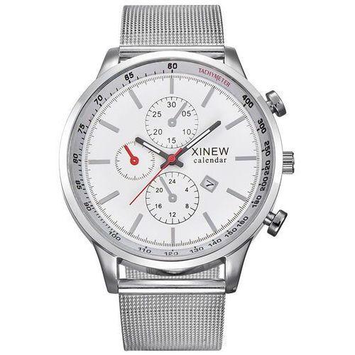 Zegarek męski bransoleta srebrny - all silver marki Xinew