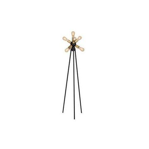 Luminex brenda 1064 lampa stojąca podłogowa 7x60w e27 czarny złoty (5907565910643)
