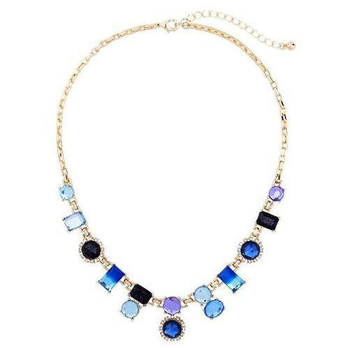 Naszyjnik z niebieskimi kryształami i - kryształki i marki Exclusive by milla