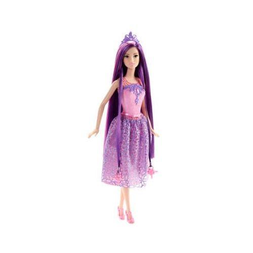 Mattel magiczne włosy księżniczka - kolor lila marki Barbie