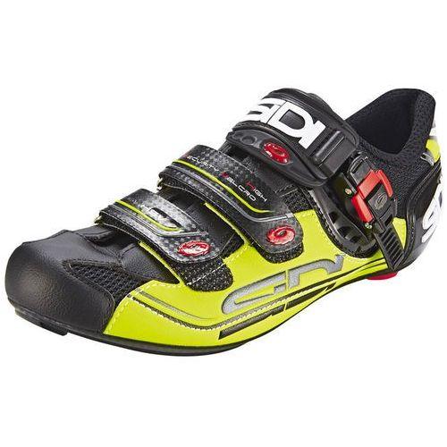 Sidi genius 7 buty mężczyźni żółty/czarny 44,5 2018 buty szosowe zatrzaskowe