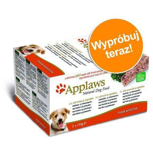 Pakiet próbny dog paté, 5 x 150g - fresh selection: indyk, wołowina i ryby oceaniczne marki Applaws