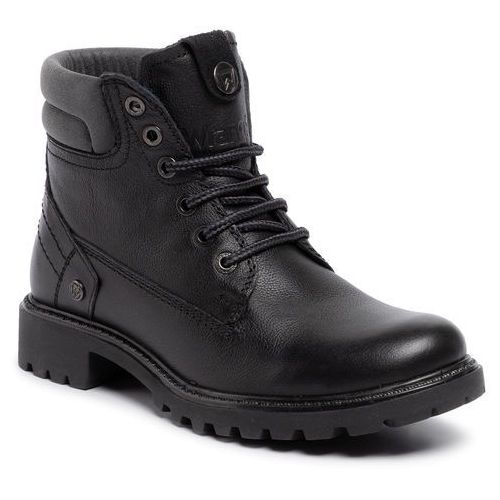 Trapery WRANGLER - Creek Leather WL92503A Black 062, kolor czarny
