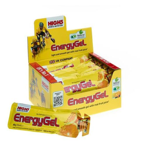 High5 EnergyGel Żywność dla sportowców Orange 20 x 40g 2018 Zestawy i multipaki (5027492999198)