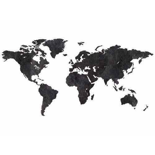 Congee.pl Duża dekoracja drewniana na ścianę mapa świata z granicami państw (5907509940774)
