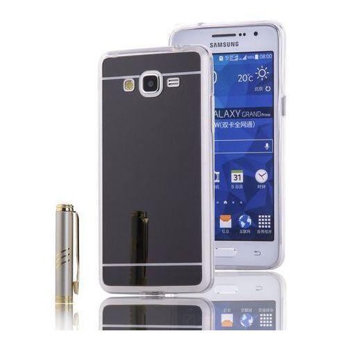 Slim Mirror Case Czarny | Etui dla Samsung Galaxy Grand Prime - Czarny, kolor czarny