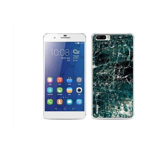 Etuo.pl Fantastic case - huawei honor 6 plus - etui na telefon fantastic case - zielony marmur