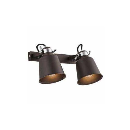 Mdeco Kinkiet lampa ścienna kongo 674 metalowa oprawa listwa regulowane reflektorki retro miedź (5908259946870)