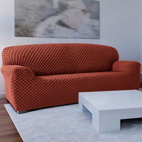 4home Forbyt pokrowiec multielastyczny na kanapę contra teracotta, 180 - 220 cm