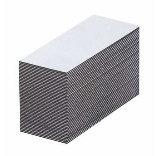 Magnetyczna tablica magazynowa, białe, wys. x szer. 10x80 mm, opak. 100 szt. zap marki Haas