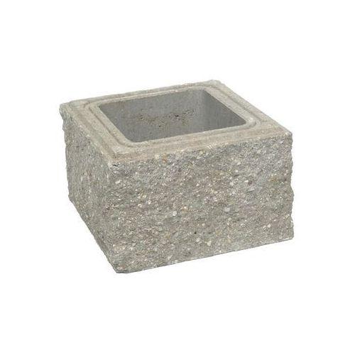 Ziel-bruk Pustak słupkowy 30 x 30 x 19 cm betonowy czterostronnie łupany skała lubuska