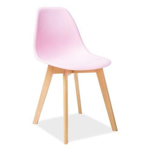 Signal meble Krzesło moris buk/różowy