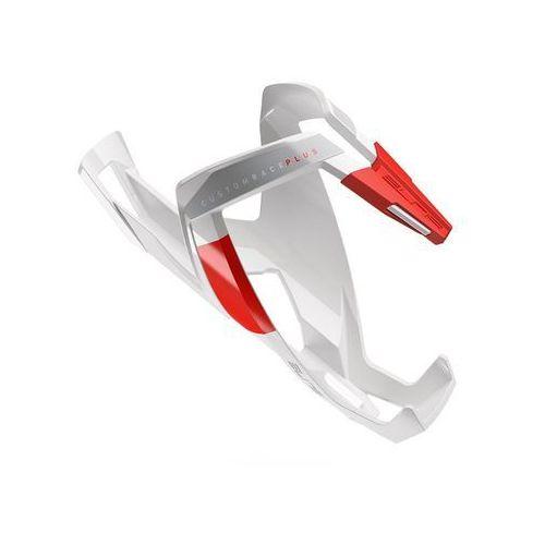 Koszyk na bidon ELITE Custom Race Plus biały-czerwony / Wykończenie: połysk (8020775027417)