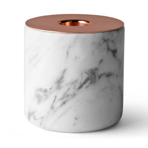 Menu Świecznik marmurowy chunk of marble l white
