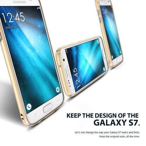 Etui Rearth Ringke Slim Samsung Galaxy S7 - Biały, kolor biały