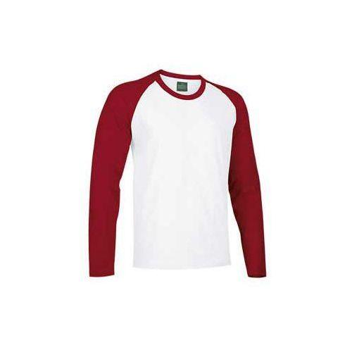 T-shirt koszulka długi rękaw dwukolorowy xs-2xl break xxl bialy-czerwony marki Valento