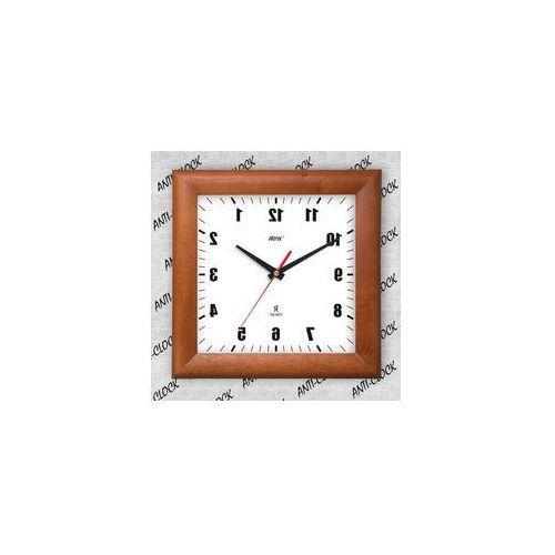Anty-zegar drewniany kwadrat lustro #1, ATW265AL1