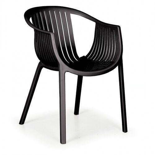 B2b partner Fotel ogrodowy lounge, czarny, 3+1 gratis