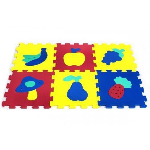 Puzzle piankowe 10 elementów owoce i warzywa marki Artyk