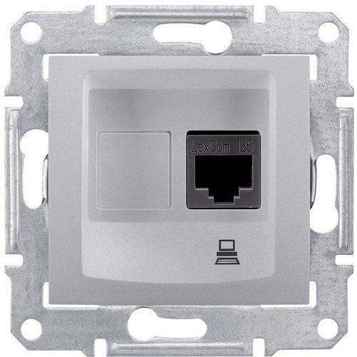 Schneider electric Gniazdo komputerowe schneider sedna sdn4300160 pojedyncze rj45 kat.5e utp aluminium (8690495035636)
