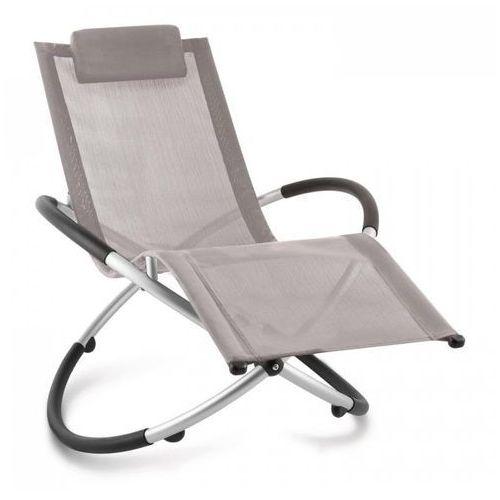chilly billy leżak ogrodowy leżak relaksacyjny aluminium szarobrązowy marki Blumfeldt
