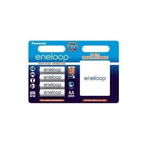 Panasonic Eneloop r6 aa 1900mah 4szt. + pudełko akumulatory hama
