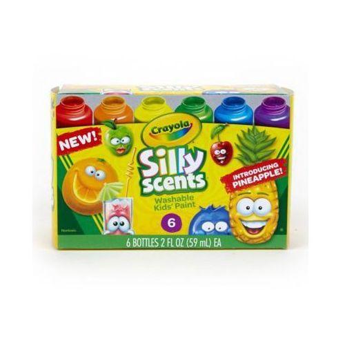 Crayola Farby pachnące zmywalne silly scents 6 sztuk - darmowa dostawa od 199 zł!!!