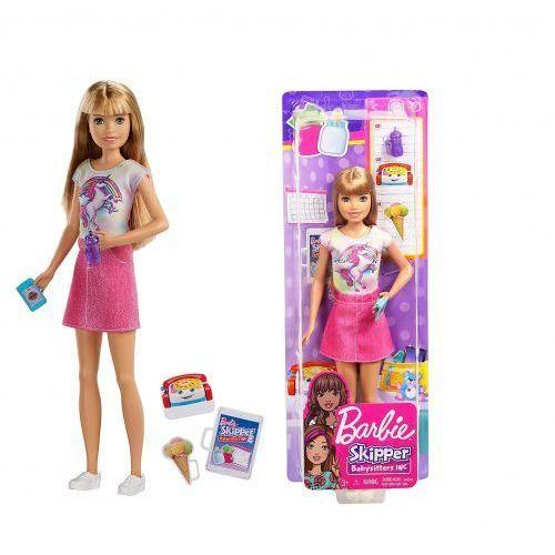Barbie skipper opiekunka dziecka + akcesoria fxg91 marki Mattel