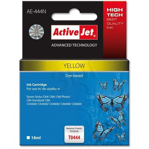 Tusz ActiveJet AE-444N (AE-444) Yellow do drukarki Epson - zamiennik Epson T0444 (5904356280862)