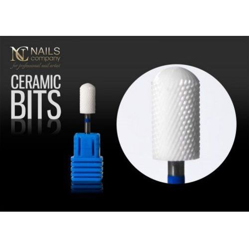 Frez ceramiczny do żelu i akrylu kształt walec Nails Company, 40527
