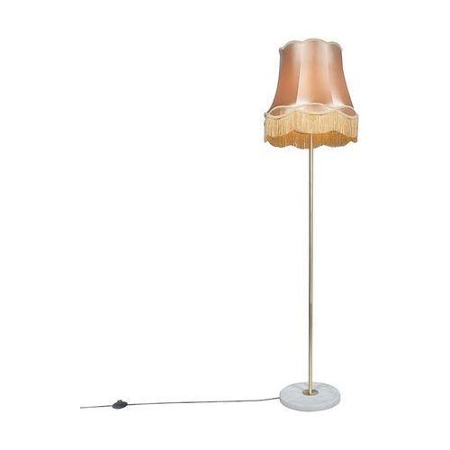 Lampa podłogowa retro mosiądz klosz złota Granny 45cm - Kaso