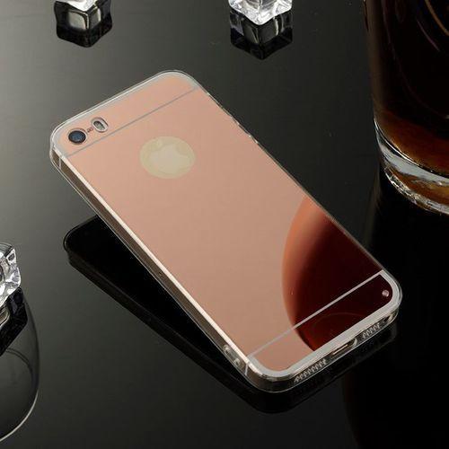 case różowy | etui dla apple iphone 5 / 5s / se - różowy marki Slim mirror