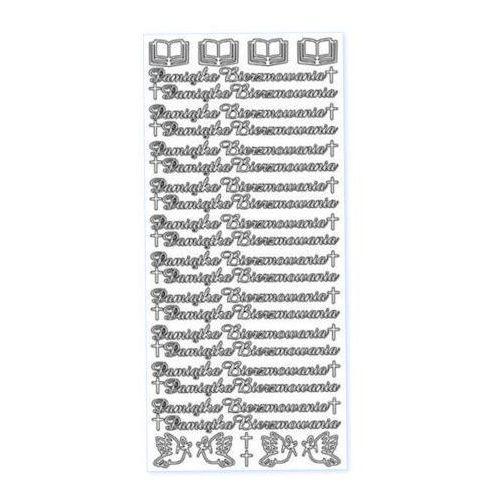 Herma Sticker złoty 01902 - pamiątka bierzmowania x1