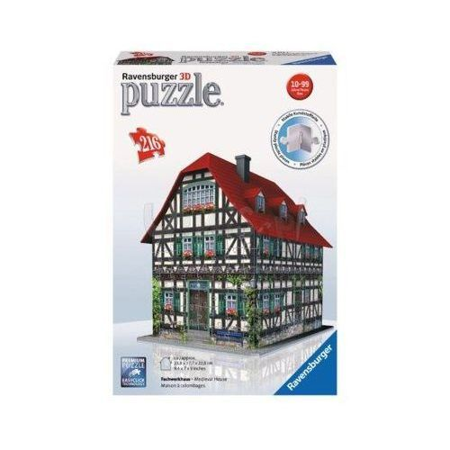 Puzzle 3d 216 średniownieczny dom marki Ravensburger