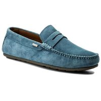Mokasyny TOMMY HILFIGER - Classic Suede Penny Loafer FM0FM01168 Jeans 013, 42-45