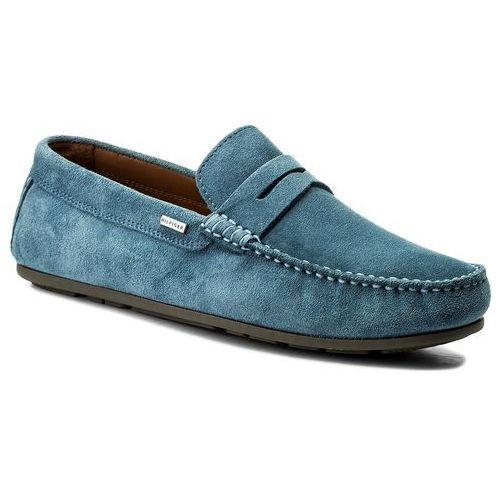 Mokasyny TOMMY HILFIGER - Classic Suede Penny Loafer FM0FM01168 Jeans 013, kolor niebieski