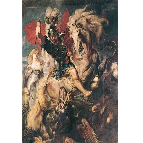 Reprodukcja The Combat Between Saint George and the Dragon 1606 Peter Paul Rubens