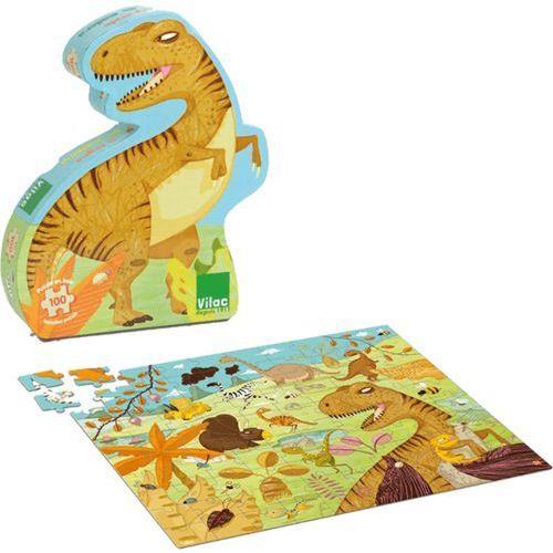 VILAC Drewniane puzzle – Dinozaur 100 elementów (3048700026118)