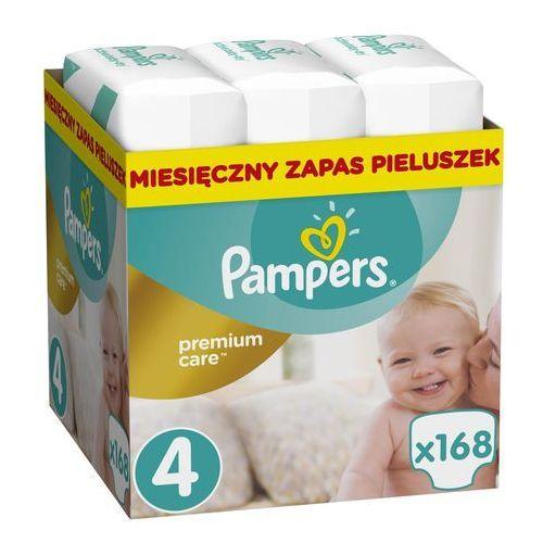 premium care 4 maxi 168 szt. (8-14 kg) zapas na miesiąc - pieluchy jednorazowe marki Pampers