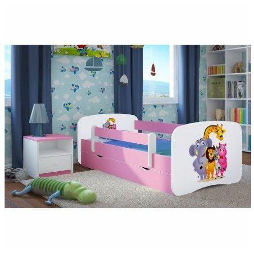 Łóżko dla dziewczynki z materacem Happy 2X mix 80x160 - różowe