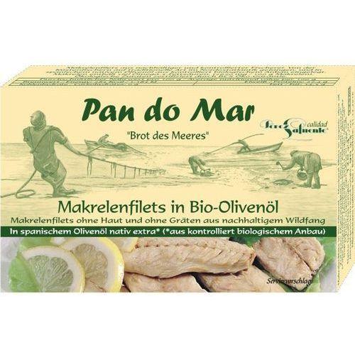 Pan do mar Filety z makreli w oliwie z oliwek 480g bio (8412439285019)