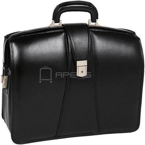 """McKlein Harrison teczka / torba ze skóry na laptopa 17"""" / czarny - czarny (6421548338532)"""
