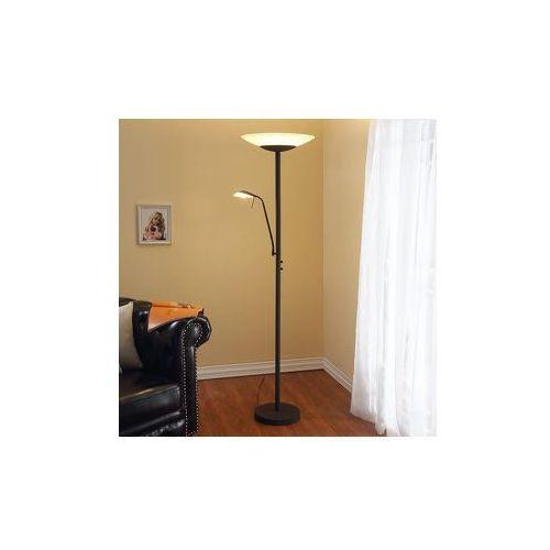Lampa stojąca LED Ragna z lampką do czyt., rdzawa z kategorii Lampy stojące