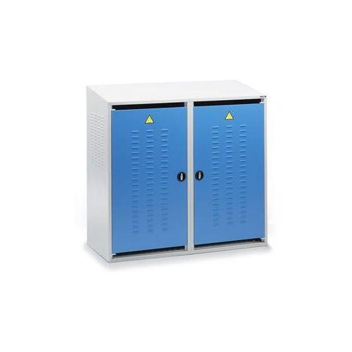 Szafa na butle z gazem, 2 drzwi, wys. z tyłu 1600 mm, z przodu 1500 mm. idealne marki Eurokraft