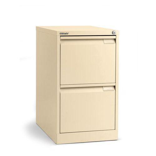 Szafka na kartotekę wiszącą, 1-torowa, 2 szuflady, DIN A4, jasna kość słoniowa.