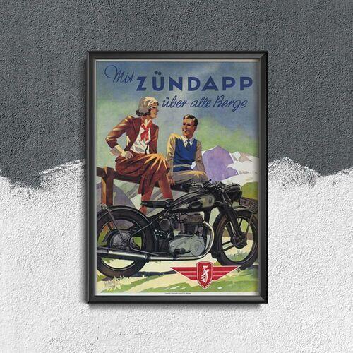 Plakat w stylu vintage Plakat w stylu vintage Zündapp