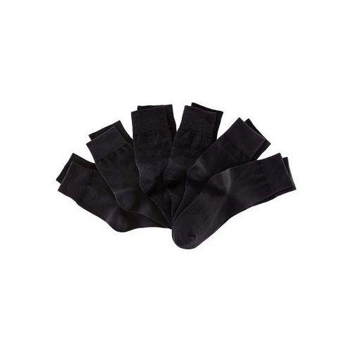 Skarpetki unisex (6 par) czarny, Bonprix