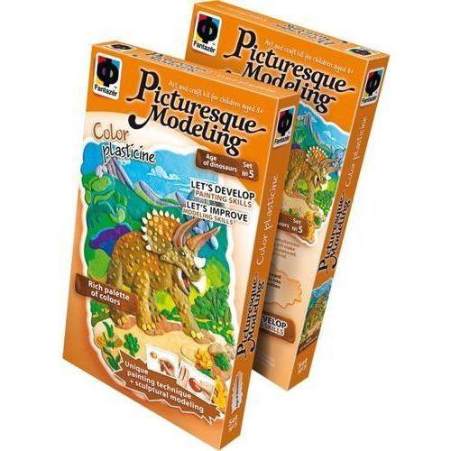 Zestaw do lepienia plasteliną dinozaur triceratops do zabaw dla dzieci marki Small foot design