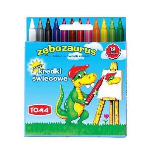 Kredki świecowe zębozaurus 24 kolory to-558 marki Toma